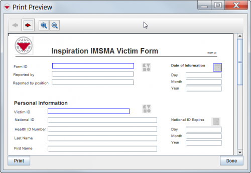 Preview a Data Entry Form Template - IMSMA Wiki