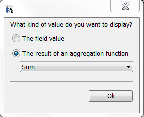 Select aggregation function
