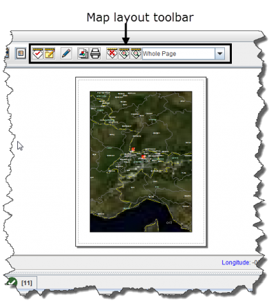 Map Layout View and Toolbar