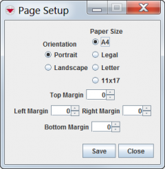 Page Setup Window