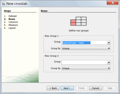 Crosstab wizard