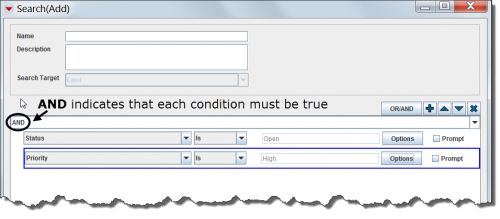 Example of a Search Using the AND Condition