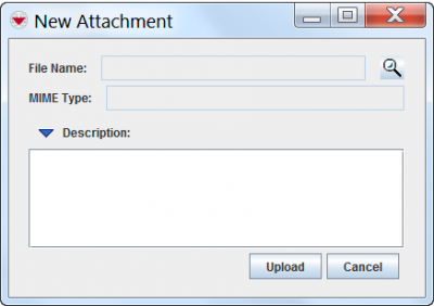 New Attachment Window
