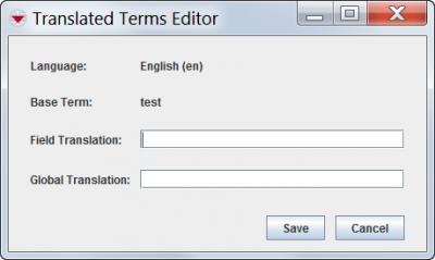 Translated Terms Editor