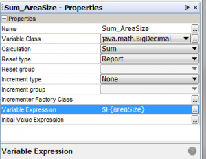 Variable Properties Pane